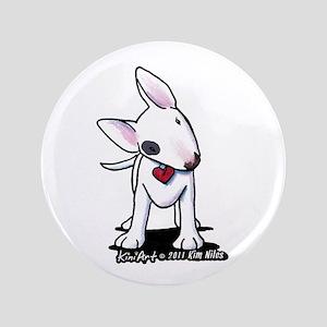 """Bull Terrier Spot 3.5"""" Button"""