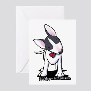 Masked Bull Terrier II Greeting Cards (Pk of 20)