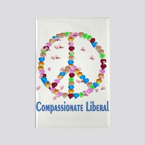 Compassionate Liberal Rectangle Magnet