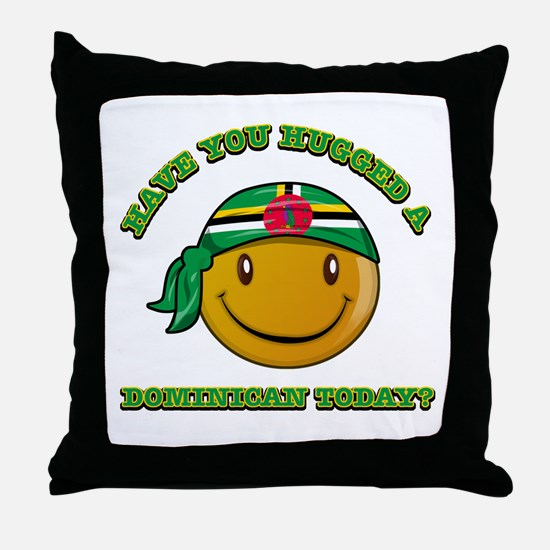 Have you hugged a Dominican today? Throw Pillow