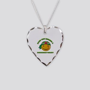 Have you hugged a Dominican today? Necklace Heart