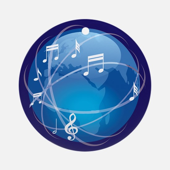 Mixed Musical Notes (world) Ornament (Round)
