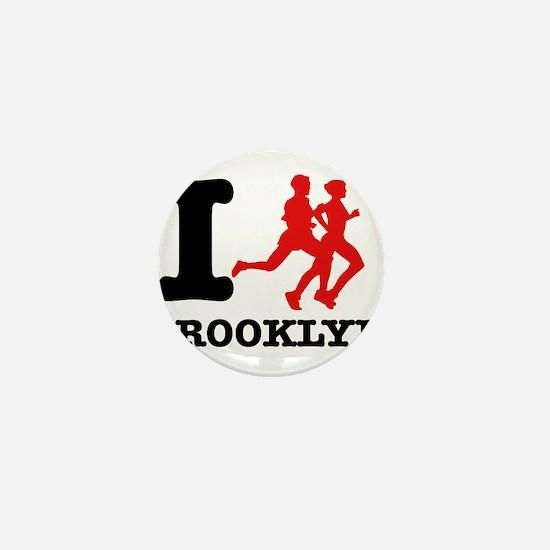 I run brooklyn Mini Button
