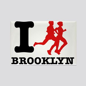I run brooklyn Rectangle Magnet
