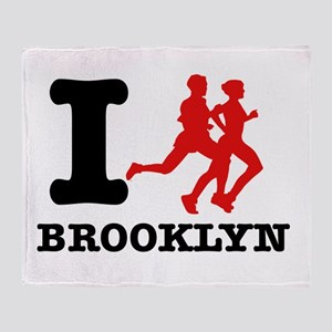 I run brooklyn Throw Blanket