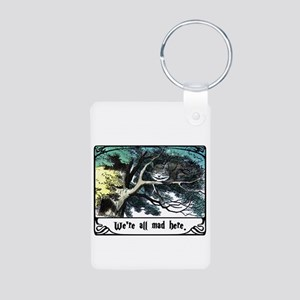 Cheshire Cat Aluminum Photo Keychain