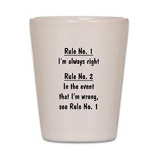 The Rules Shot Glass