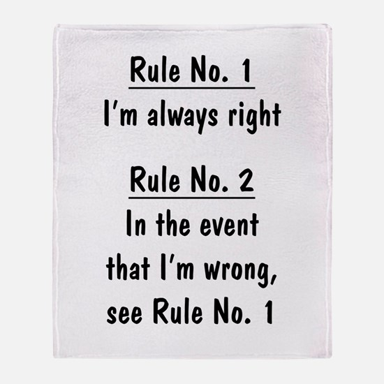 The Rules Throw Blanket