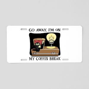 Coffin Break Aluminum License Plate