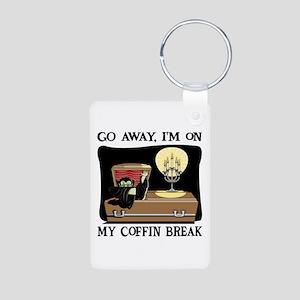 Coffin Break Aluminum Photo Keychain