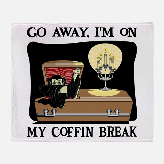 Coffin Break Throw Blanket