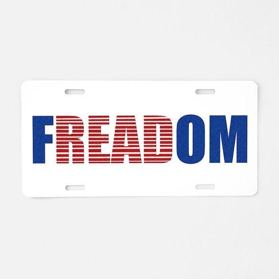FREADOM Aluminum License Plate