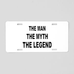 Man Myth Legend Aluminum License Plate