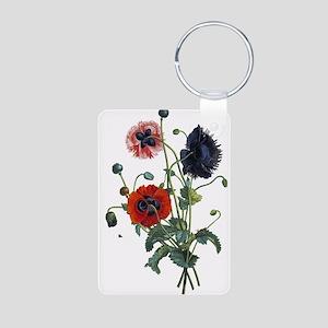 Poppy Art Aluminum Photo Keychain