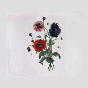 Poppy Art Throw Blanket