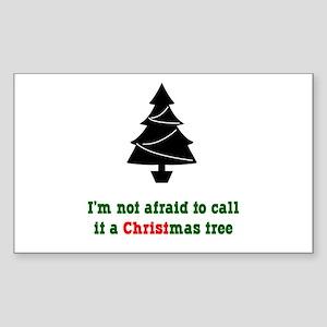 Christmas Tree Rectangle Sticker