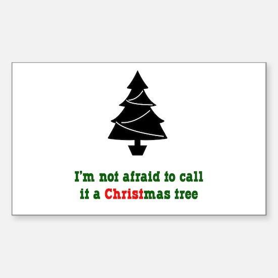 Christmas Tree Rectangle Decal