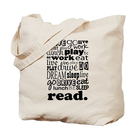 Read Life Quote Book Tote Bag