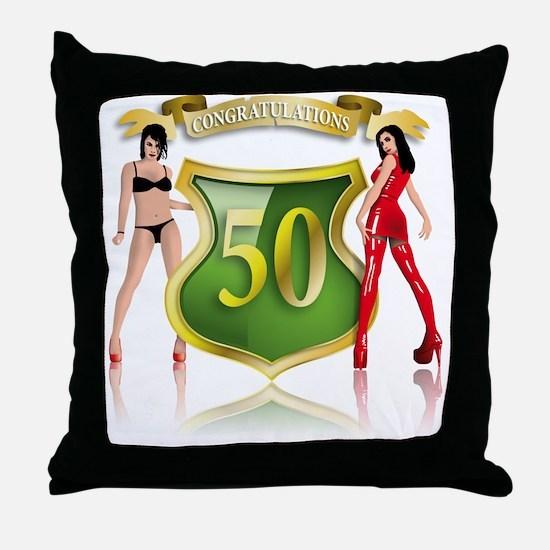 Cute Sexy 40 Throw Pillow