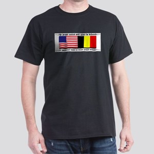 USA - Belgium unite! Black T-Shirt