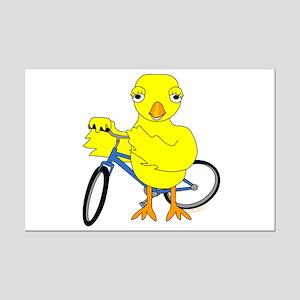 Biker Chick Mini Poster Print
