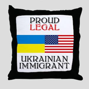 Ukrainian Immigrant Throw Pillow