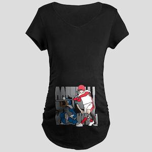 Softball Action Maternity Dark T-Shirt