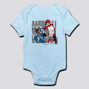 Softball Action Infant Bodysuit