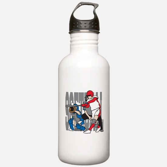 Softball Action Water Bottle