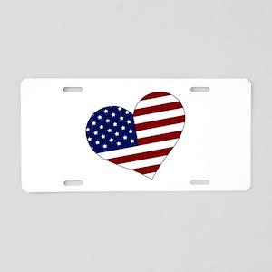 American Heart Aluminum License Plate