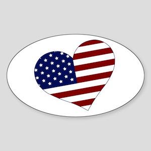 American Heart Sticker (Oval)
