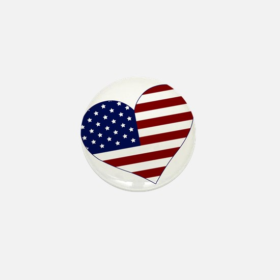 American Heart Mini Button