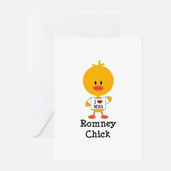 Mitt Romney Chick Greeting Card