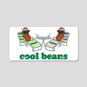 Cool Beans Aluminum License Plate