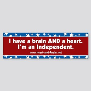 Brain and a Heart, version 2, bumper sticker