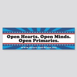 Open Hearts. Open Minds. bumper sticker