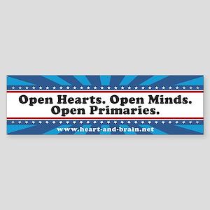 Open Hearts. Open Minds. bumper sticker