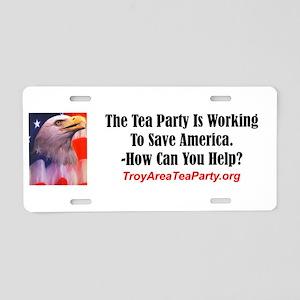 Help the Troy Area Tea Party Aluminum License Plat