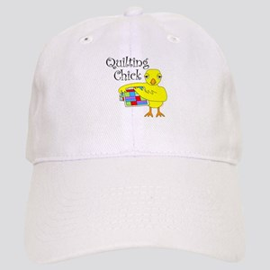 Quilting Chick Text Cap