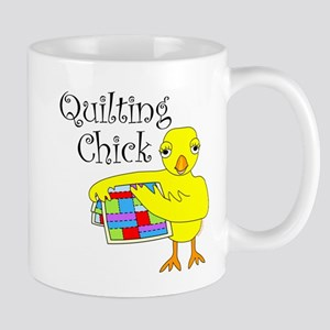 Quilting Chick Text Mug