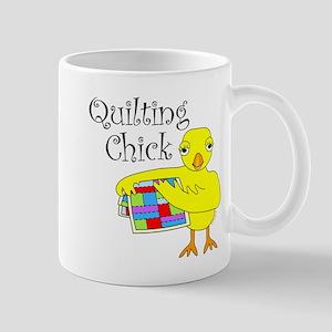 Quilting Chick Text Mug