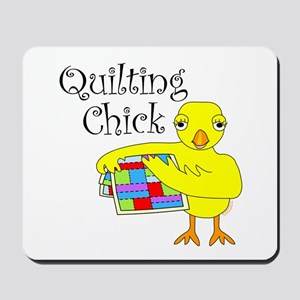 Quilting Chick Text Mousepad