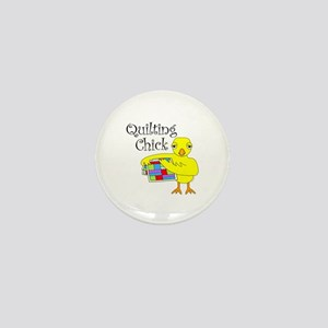 Quilting Chick Text Mini Button