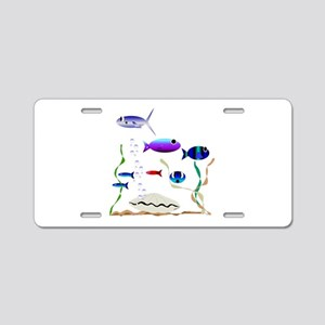 Swimming with the Fishes Aluminum License Plate