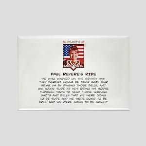 Sarah Palin - Paul Revere Rectangle Magnet