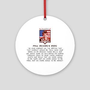 Sarah Palin - Paul Revere Round Ornament