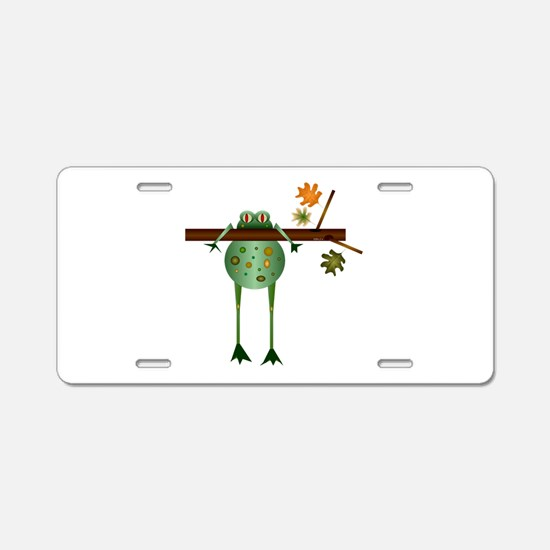 Of Trees and Frogs Aluminum License Plate