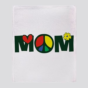 Peace Mom Throw Blanket