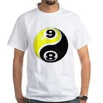 8 Ball 9 Ball Yin Yang White T-Shirt