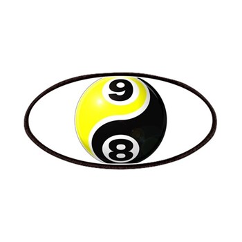8 Ball 9 Ball Yin Yang Patches